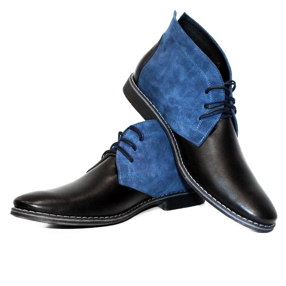 Modello Fifi Handmade Colorful Italian Leather Shoes Chukka Boots Brown